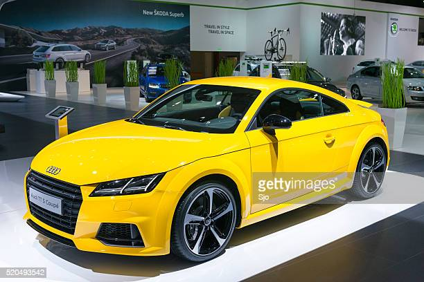audi tt s coupe sports car - audi car stock photos and pictures