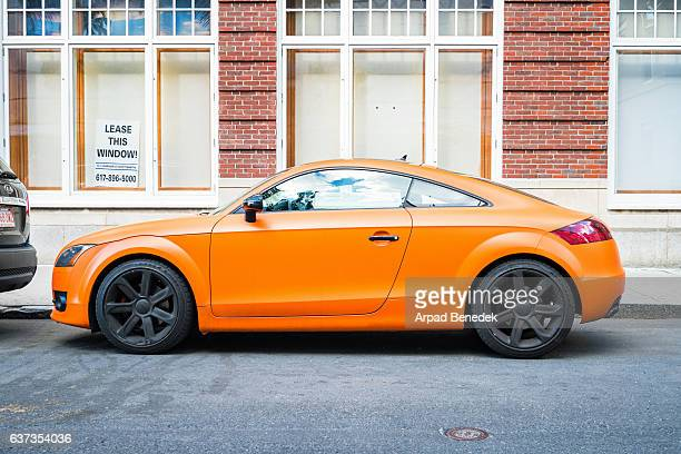 audi tt side view - audi stock pictures, royalty-free photos & images