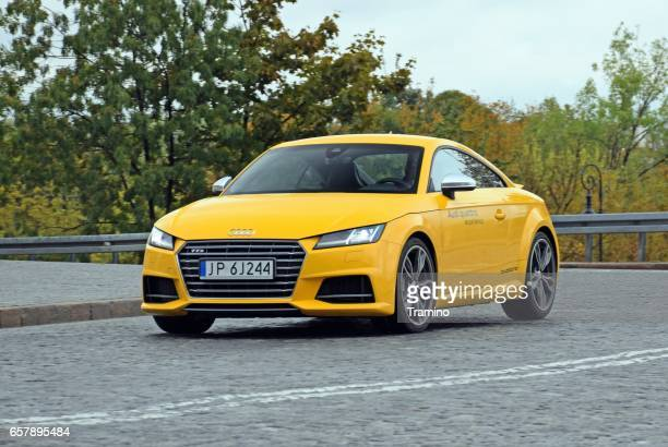 audi tts in motion - audi car stock photos and pictures