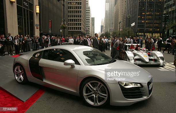 Audi unveils its new sports car the The Audi R8 at the Audi forum on Park Avenue on October 11 2006 in New York City