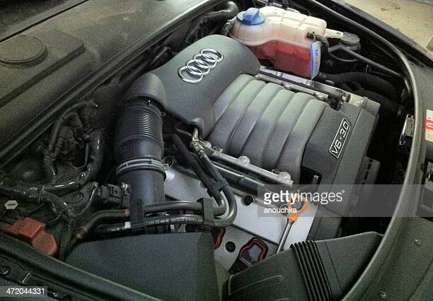 audi v6-3.0 engine - audi a6 stock photos and pictures
