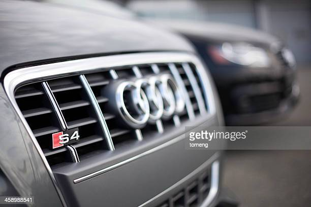 audi vehicles at a car dealership - audi stock pictures, royalty-free photos & images