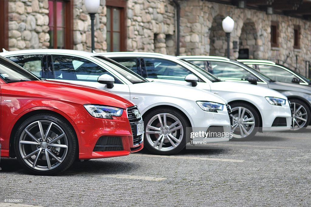 Audi vehicles on the parking : Stock Photo