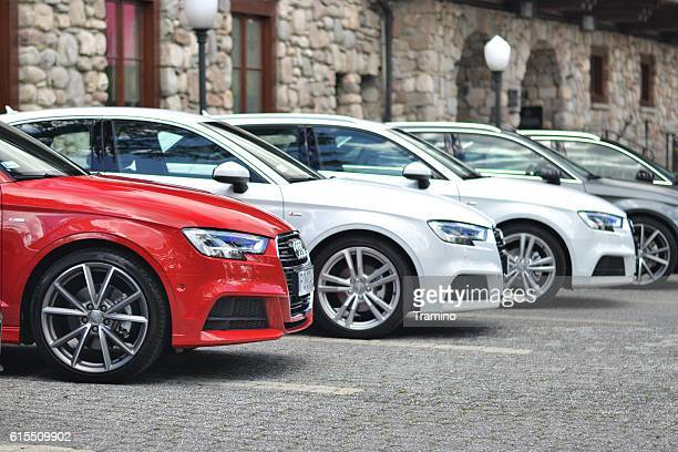 Audi vehicles on the parking