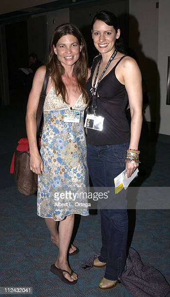 Audie England and Paget Brewster during 2003 San Diego Comic Con International Day Three at The San Diego Convention Center in San Diego California...