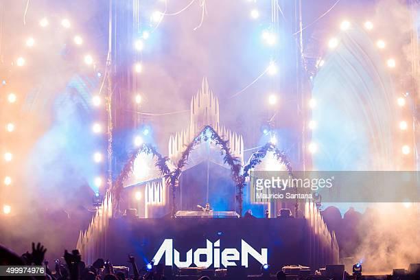 Audien performs during EDC Electric Daisy Carnival at Autodromo de Interlagos on December 04 2015 in Sao Paulo Brazil