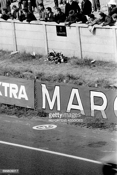 Audience and Memorial for a Car Accident Which Killed 84 During the 1955 Race at the 24 Hours of Le Mans France in June 1963