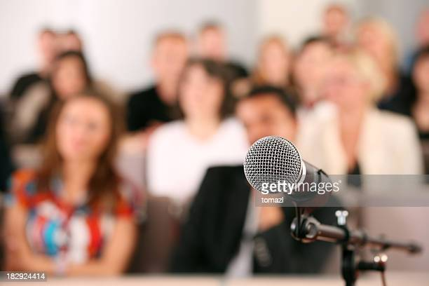 Audience and microphone