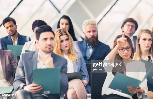 Audience at a business presentation