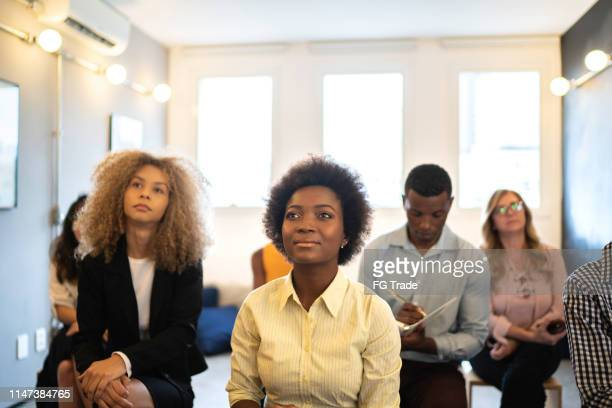 audience at business convention and presentation / interview / launch event - participant stock pictures, royalty-free photos & images