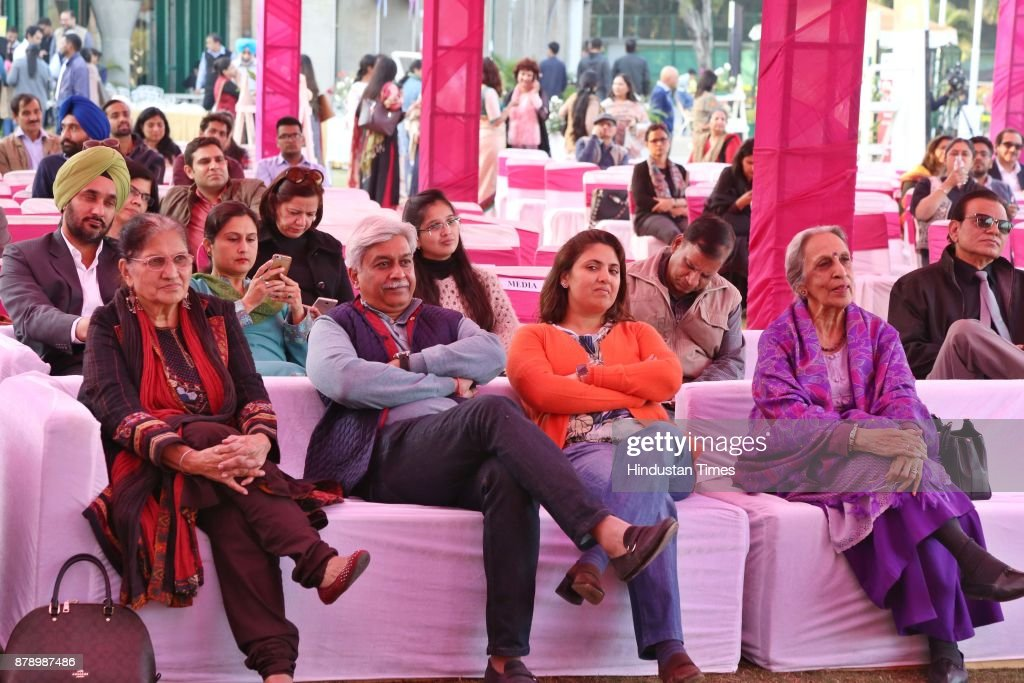 Audience at Chandigarh Literature Festival 2017 at Lake Club on November 25 2017 in Chandigarh India