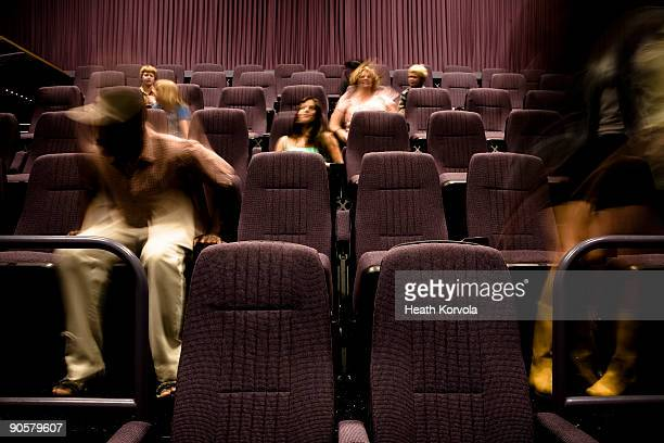 Audience at movie theater.