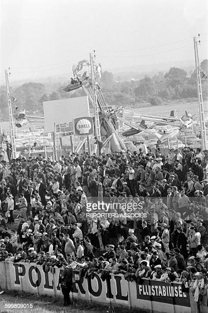 Audience at the Auto Race the 24 Hours of Le Mans France in June 1963