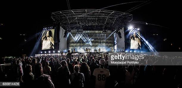 Audience at the concert of the Barbadian singer Rihanna during the date of the ANTI World Tour hosted in Milan San Siro Stadium Milan 13th July 2016