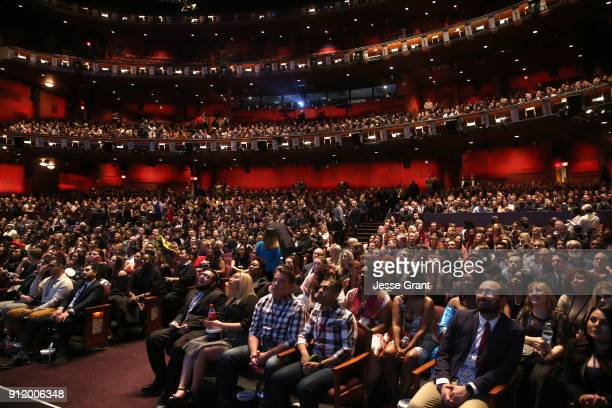 Audience at the Los Angeles World Premiere of Marvel Studios' BLACK PANTHER at Dolby Theatre on January 29 2018 in Hollywood California