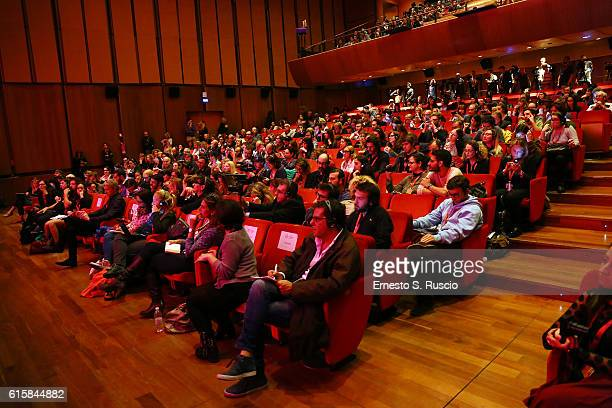 Audience at the press conference for 'Florence Foster Jenkins' during the 11th Rome Film Festival at Auditorium Parco Della Musica on October 20 2016...