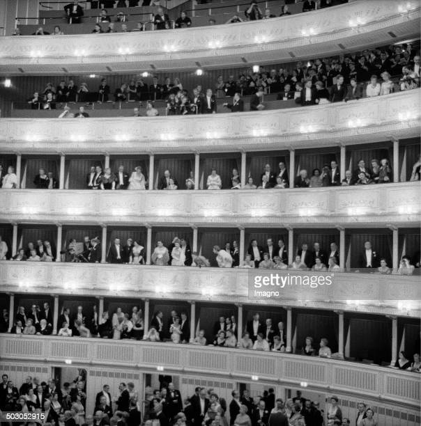 Audience at the reopening of the Vienna State Opera Vienna 5th November 1955 Photograph by Franz Hubmann