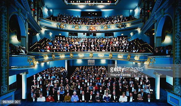 audience attending performance in auditorium, sarasota, florida, usa - audience stock pictures, royalty-free photos & images