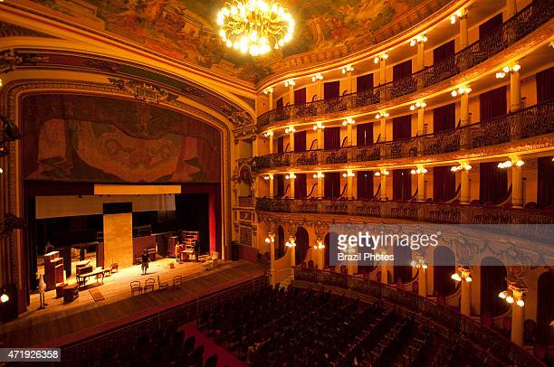 Audience chamber of The Amazon Theatre an opera house located in the heart of Manaus inside the Amazon Rainforest in Brazil The Italian Domenico de...