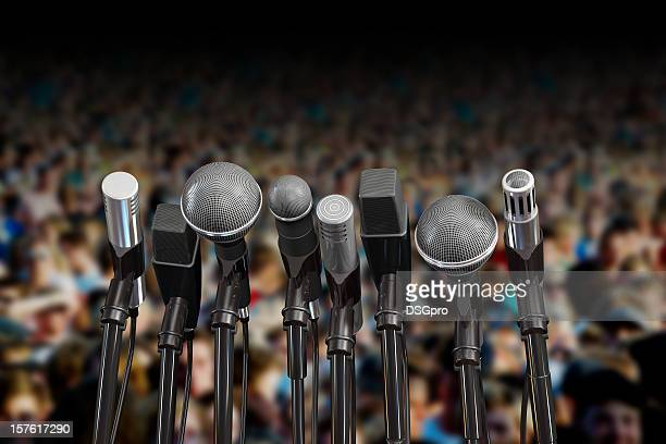 audience conference - press conference stock pictures, royalty-free photos & images