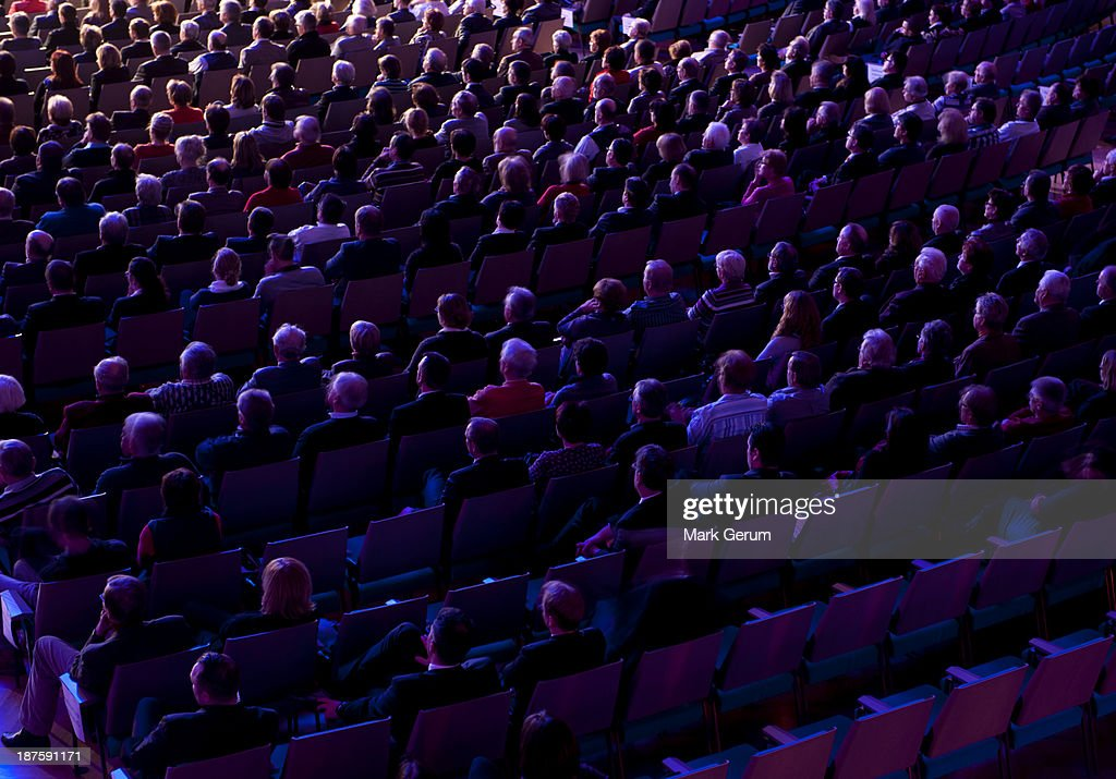 Audience crowd at a presentation event : Stock Photo