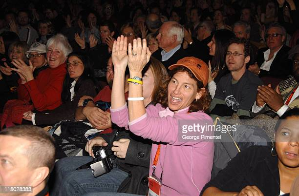 Audience during 2007 Sundance Film Festival 'The Good Night' Premiere QA at Eccles Theatre in Park City Utah United States