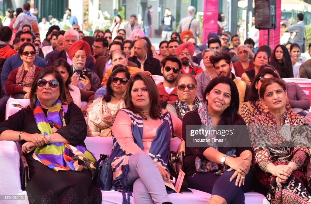 Audience during a session at Chandigarh Literati Festival 2017 at Lake Club on November 26 2017 in Chandigarh India