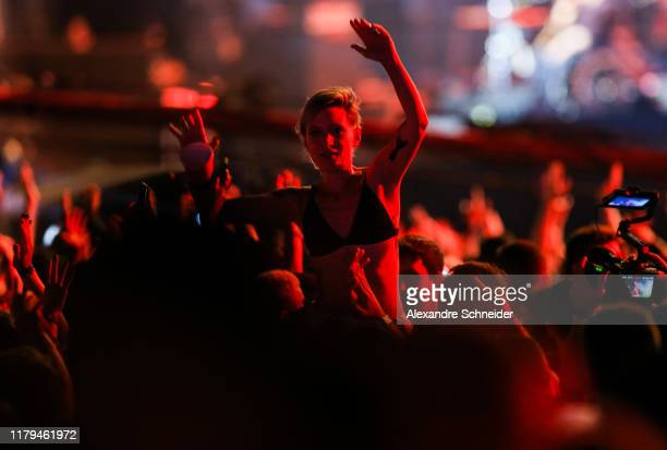 Audience during Paralamas do Sucesso concert during Rock in Rio 2019 - Day 7 at Cidade do Rock on October 06, 2019 in Rio de Janeiro, Brazil.