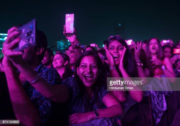 Audience during the Bollywood singer Arijit Singh Live in concert at MMRDA Grounds BKC on Sunday November 12 2017 in Mumbai India