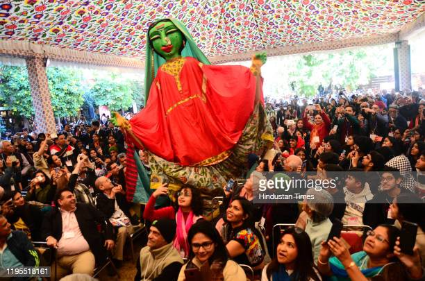 Audience during the inaugural day of Zee Jaipur Literature Festival 2020 at Hotel Diggi Palace on January 23 2020 in Jaipur India