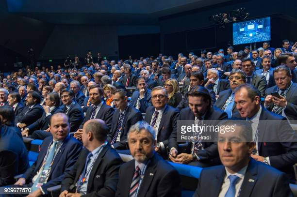 Audience during the UEFA Nations League Draw 2018 at Swiss Tech Convention Center on January 24 2018 in Lausanne Switzerland