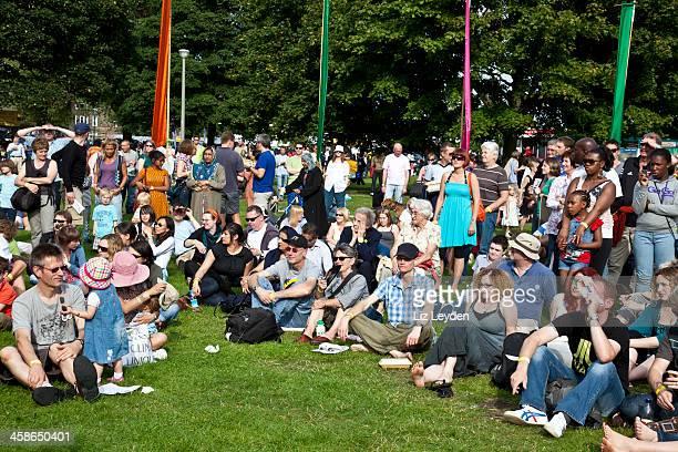 Publikum bei einem Konzert in Edinburgh Mela