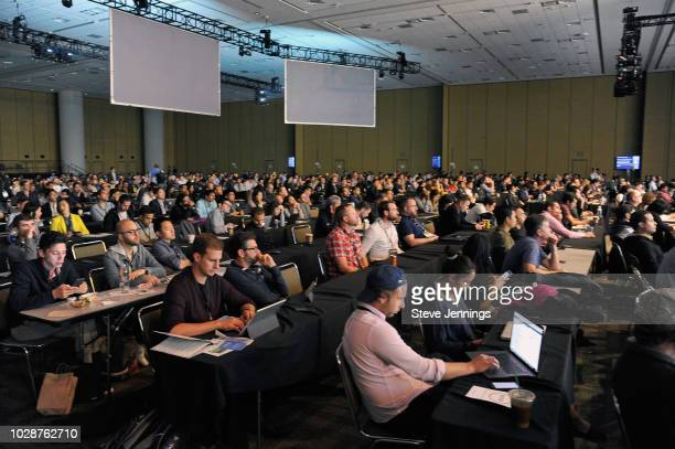 Audience is seen during Day 3 of TechCrunch Disrupt SF 2018 at Moscone Center on September 7, 2018 in San Francisco, California.