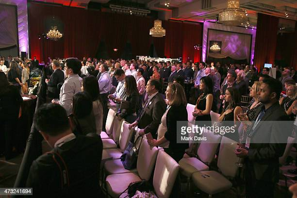 Audience is seen during the B Riley Co And Sugar Ray Leonard Foundation's 6th Annual Big Fighters Big Cause Charity Boxing Night at The Ray Dolby...