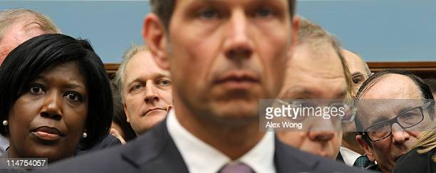 Audience listen as CEO of Deutsche Telekom AG Rene Obermann testifies during a hearing before the Intellectual Property Competition and the Internet...
