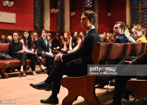 Audience look on as Prince Albert Of Monaco speaks during his visit to The Oxford Union on February 6 2017 in Oxford England