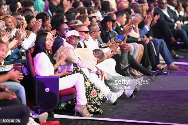 Audience members at 2017 BET Awards at Microsoft Theater on June 25 2017 in Los Angeles California