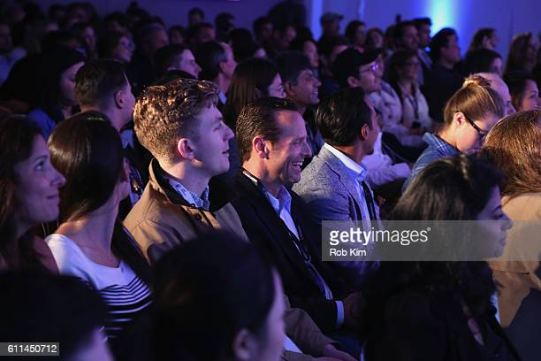 Audience members attend the It's All About the Story panel on the ADARA Stage at Times Center Hall during 2016 Advertising Week New York on September...