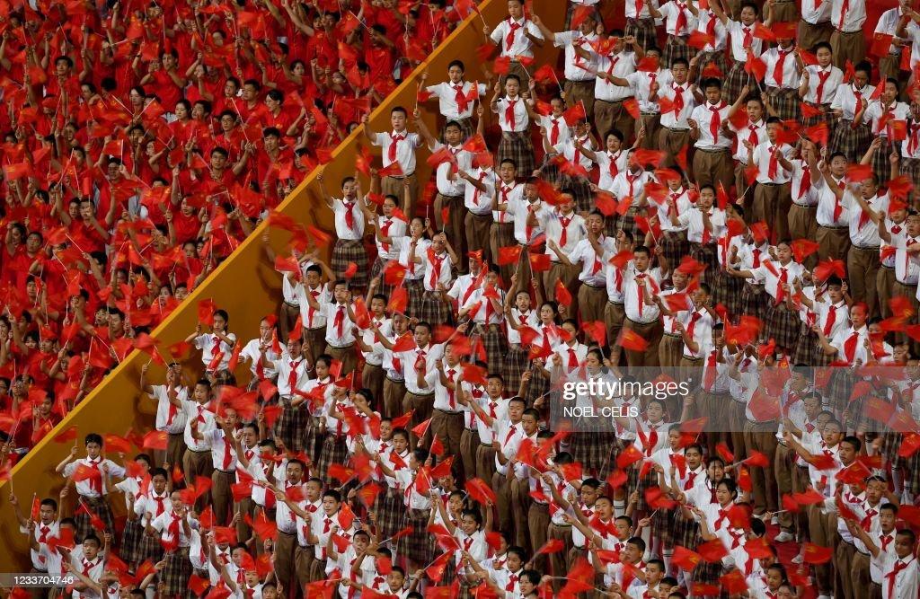 TOPSHOT-CHINA-POLITICS-ANNIVERSARY : News Photo