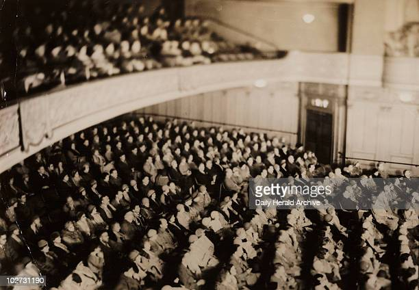 Audience photographed in infrared light 1930s Photograph taken using the Ilford InfraRed Process of an audience watching 'The Sign of the Cross' at...