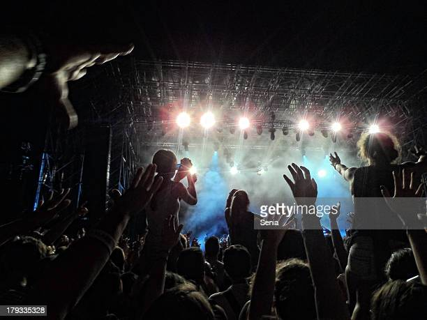 audience - concert stock pictures, royalty-free photos & images
