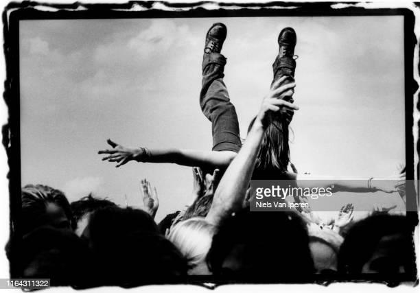 Audience Pinkpop, Draf- en renbaan, Landgraaf, Netherlands, 1990s.
