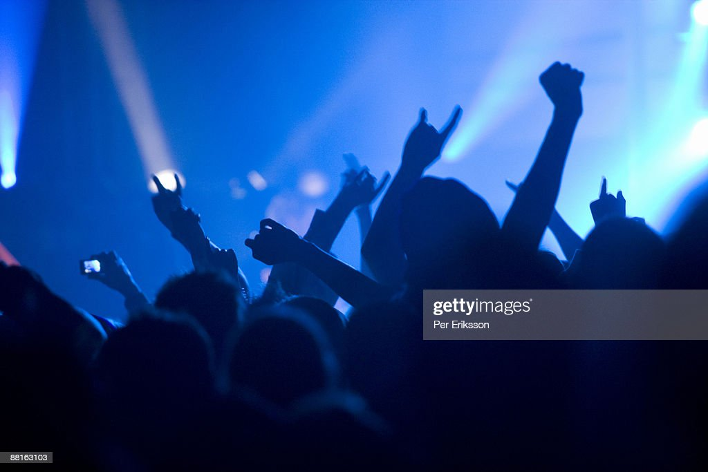 Audience under a music concert. : Stock Photo