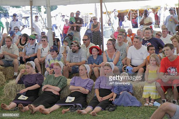 Audience watching a performance at the Kutztown Folk Festival