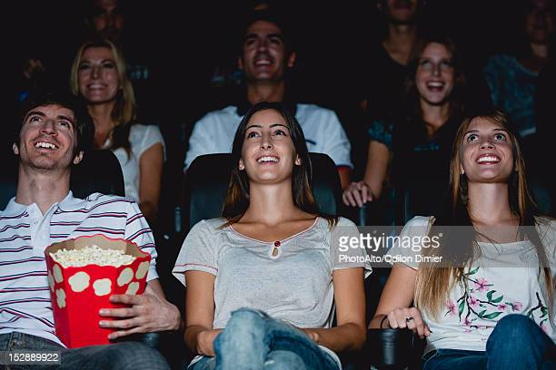 audience watching movie in theater - 2012 film stock photos and pictures