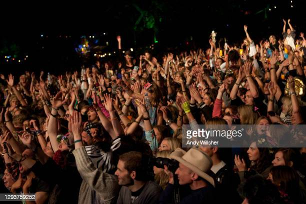 Audience watching pop singer Marina & The Diamonds performing at the Secret Garden Party in 2010