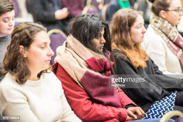 Audience watching speakingat the event About Abortion the law and politics of reform organized by The Irish Centre for Human Rights on Friday 9 March...