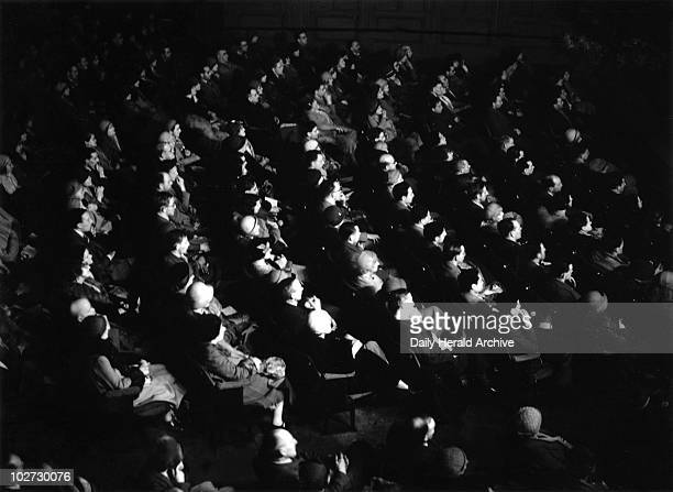 Audience watching 'The Sign of the Cross' at Carlton Theatre 3 Feb 1933 Audience watching 'The Sign of the Cross' at the Carlton Theatre on the 3...