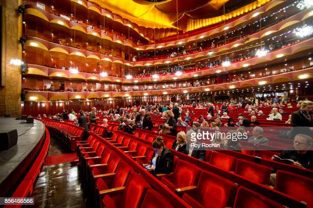 """Audiences fill the theater during """"The Opera House"""" screening at the 55th New York Film Festival at The Metropolitan Opera House on October 1, 2017..."""