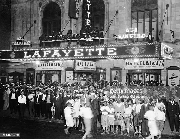 Audiences Outside Lafayette Theater for 'Hallelujah'